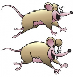 two mice vector image