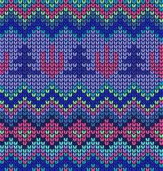Waves pattern geometric seamless knitted backgrou vector