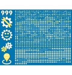 999 tools gears smiles map markers mobile vector