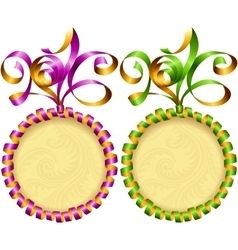 New Year 2016 circle frame set vector image