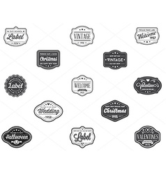 Set of vintage retro styled premium design labels vector