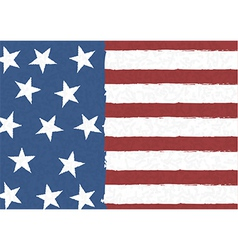 American flag on scribble abstract pattern vector
