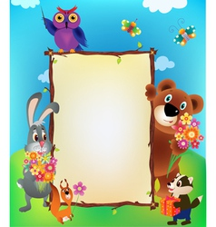 Animal frame vector image vector image