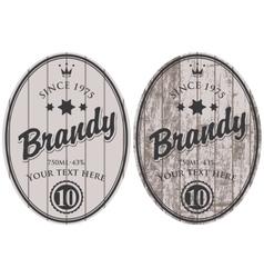 Brandy labels vector