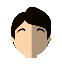 Character face man worker profile shadow vector