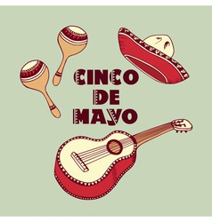 Cinco De Mayo objects vector image