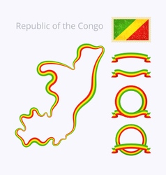 Colors of Republic of the Congo vector image vector image