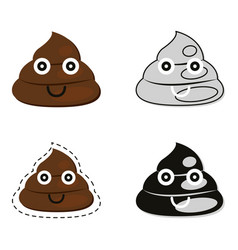 cute poop set vector image