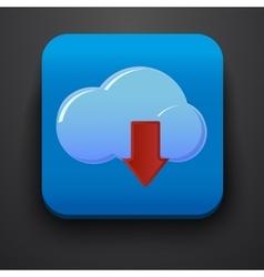 Download symbol icon on blue vector