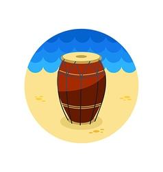 Drum icon summer vacation vector