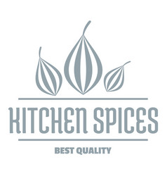 Eco kitchen spice logo simple gray style vector