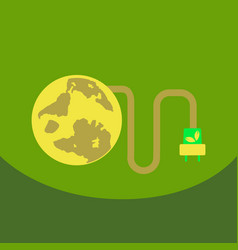 Ecology infographics design elements planet and vector