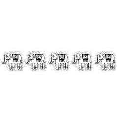Ethnic tribalSeamless Pattern with elephants vector image vector image
