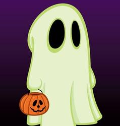 Little halloween ghost vector