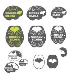 Logos ginkgo biloba vector