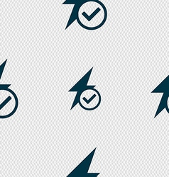 Photo flash icon sign seamless abstract background vector