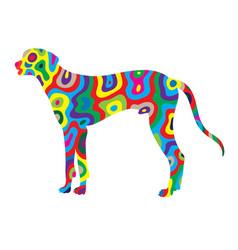 Rainbow dog 1 vector