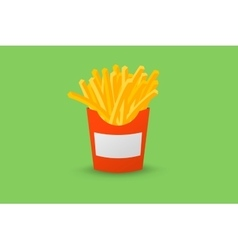 Red Box of French fries vector image vector image
