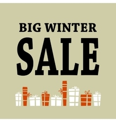 Winter sale background with black letters and vector image vector image