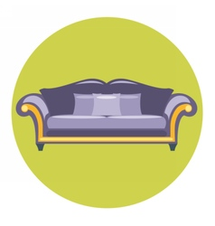 Digital purple sofa with pills vector image