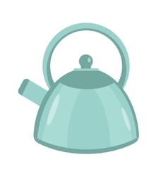Kettle icon flat style Isolated on white vector image