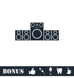 Home theater icon flat vector