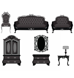 Classic royal ornamented furniture vector