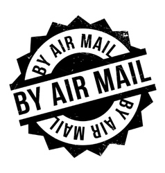 By air mail ruuber stamp vector