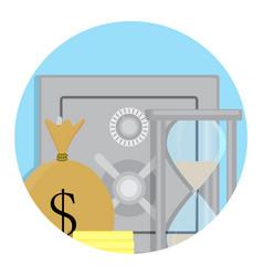 Safety deposit box icon vector