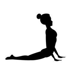 pretty woman doing yoga yogi icon image vector image