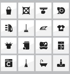 Set of 16 editable hygiene icons includes symbols vector