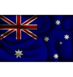 crumpled flag of Australia vector image