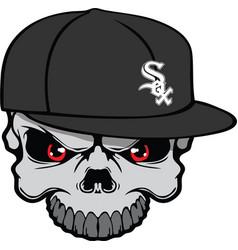 white sox skull vector image