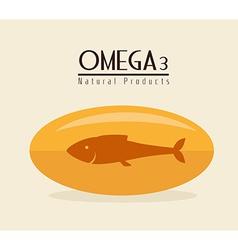 Omega design vector image