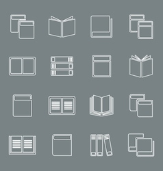 Outline book icon vector image