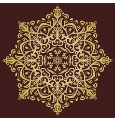 Orient abstract golden ornament vector