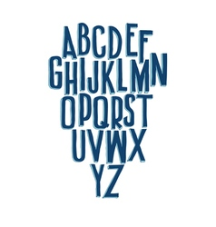 Typographic compositions letters of the alphabet vector