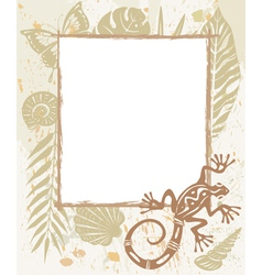 Frame made of natural objects vector