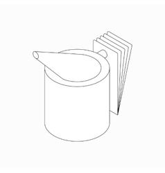 Beekeeper smoker icon isometric 3d style vector