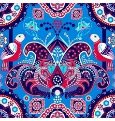 Blue flowers seamless pattern vector
