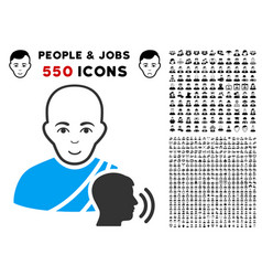 Buddhist confession icon with bonus vector