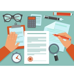 business concept in flat style vector image vector image