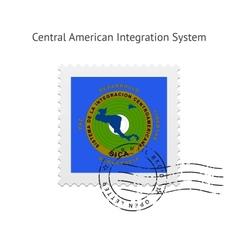 Central american integration system flag postage vector