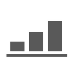 chart icon simple vector image