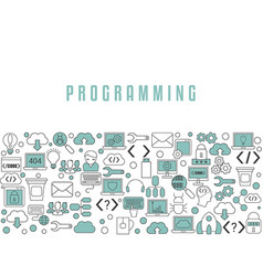 Coding and programming background coding and vector