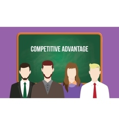 Competitive advantage concept in a team vector