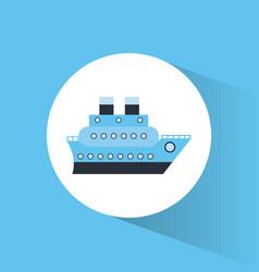 Cruise ship vacation travel vector