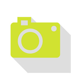 Digital camera sign pear icon with flat style vector