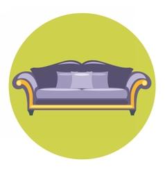 Digital purple sofa with pills vector image