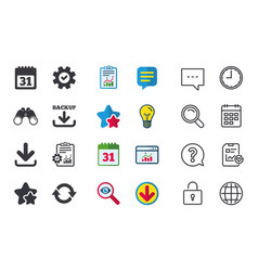 Download and backup signs calendar rotation vector